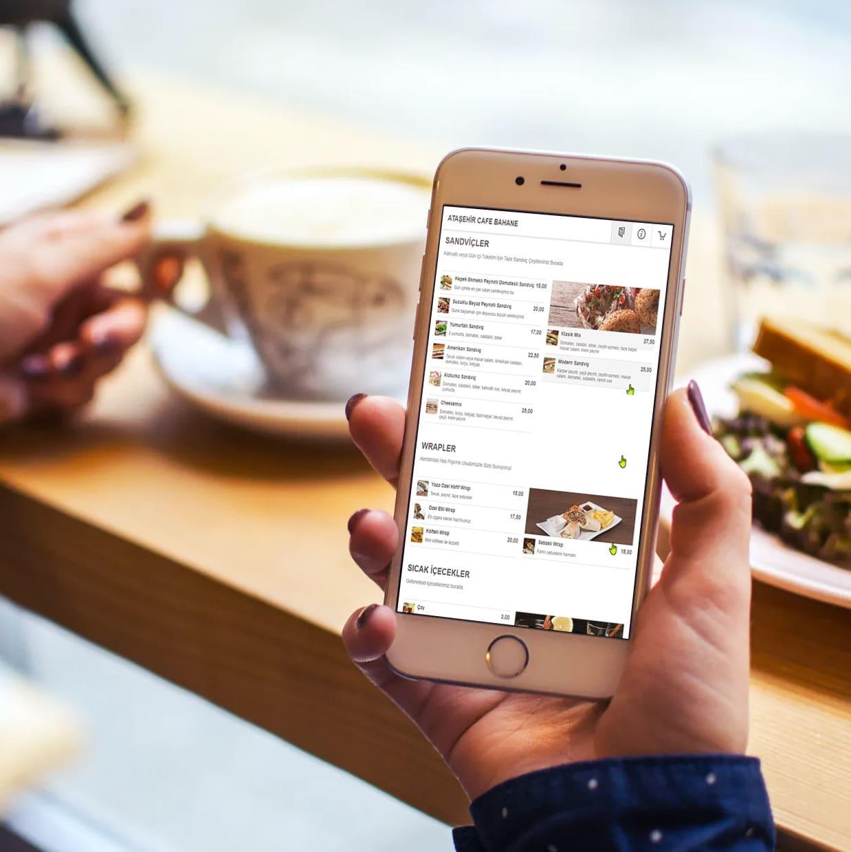 butik internet online menü ve sipariş